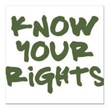 Know Your Rights Square Car Magnet