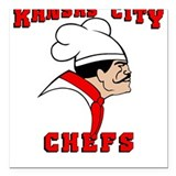 Kansas City Chefs Square Car Magnet