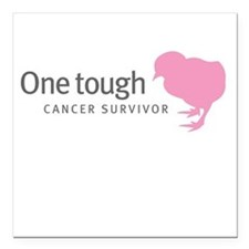 One tough chick Square Car Magnet