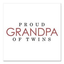 GRANDPA of TWINS - Square Car Magnet