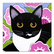 SASSY Black and Square Car Magnetuxedo CAT Adult S
