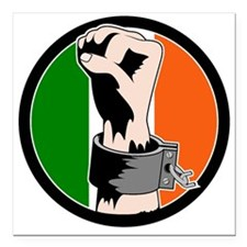 Irish Freedom Square Car Magnet