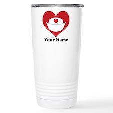 Personalized Nurse Heart Travel Mug