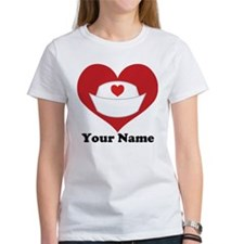 Personalized Nurse Heart Tee