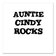 AUNTIE CINDY ROCKS Creeper Square Car Magnet