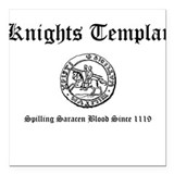 Knights Templar Saracen Blood Square Car Magnet