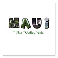 Maui Valley Isle Square Car Magnet