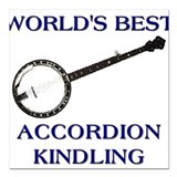 accordion kindling Square Car Magnet
