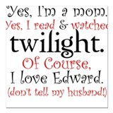 Twilight Moms 4 Square Car Magnet