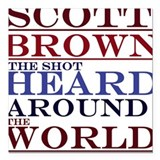 Scott Brown the Shot Square Car Magnet