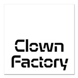 Clown Factory Square Car Magnet