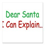 Dear Santa Square Car Magnet