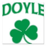 Doyle Irish Square Car Magnet