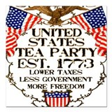 United States Tea Party Square Car Magnet