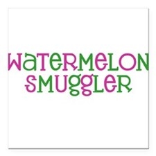 Watermelon Smuggler Square Car Magnet