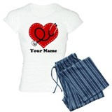 Personalized Nurse Heart pajamas