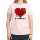 Personalized Nurse Heart T-Shirt