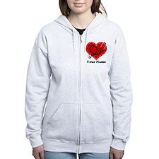 Personalized Nurse Heart Zip Hoody