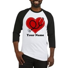 Personalized Nurse Heart Baseball Jersey