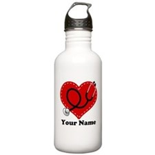 Personalized Nurse Heart Botella de agua