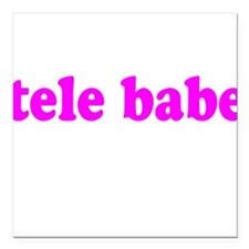 Tele Babe Square Car Magnet