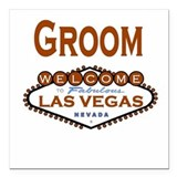 Cool Copper Las Vegas Groom Square Car Magnet