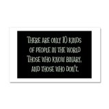 10kindsofpeople.png Car Magnet 20 x 12