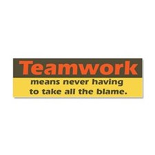 teamwork.png Car Magnet 10 x 3