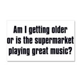 supermarket music dark.png Car Magnet 20 x 12