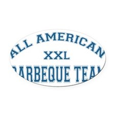 ALL AMERICAN BARBEQUE.png Oval Car Magnet
