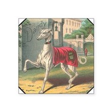 "grayhound6c trans.png Square Sticker 3"" x 3"""