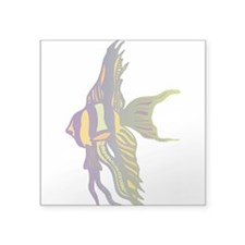 "1996625angelfish.png Square Sticker 3"" x 3"""