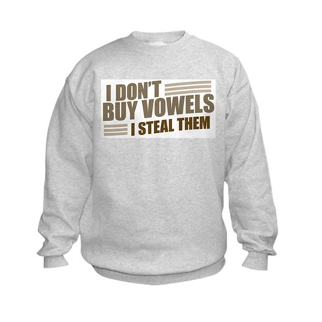 Can I Steal a Vowel? Kids Sweatshirt