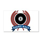 32380319eightballbanner.png Car Magnet 20 x 12