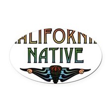 californiashell35.png Oval Car Magnet