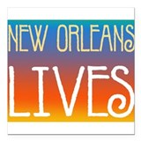 "NOLives3.png Square Car Magnet 3"" x 3"""