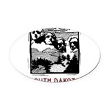 southdakota20632862.png Oval Car Magnet