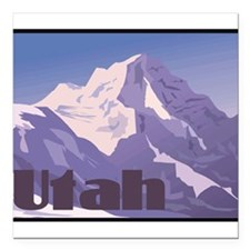 "1074h5451mountain.png Square Car Magnet 3"" x 3"""