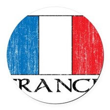 1663164France.png Round Car Magnet