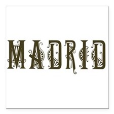 "madrid1.png Square Car Magnet 3"" x 3"""