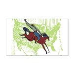 0971h1734americancowboy.png Rectangle Car Magnet