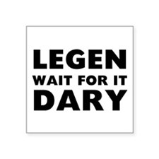 "Legendary Square Sticker 3"" x 3"""