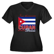 I am the Cuban Dream Women's Plus Size V-Neck Dark