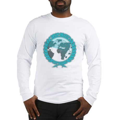 Music Radar Drop Beats Not Bombs Long Sleeve T-Shi