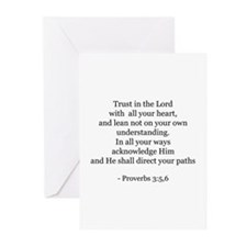 Proverbs 3:5,6 Greeting Cards (Pk of 10)