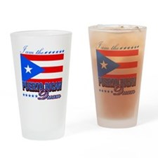 I am the Puerto Rican Dream Drinking Glass