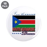 "I am the South Sudanese Dream 3.5"" Button (10 pack"