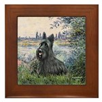 Seine - Scottish Terrier Framed Tile