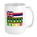 Hawaii 808 with Hawaiian Flag Mug
