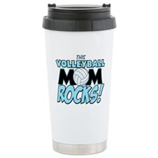 This Volleyball Mom Rocks.png Travel Mug